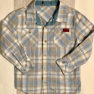 7 For All Mankind Boys Plaid Button Down.